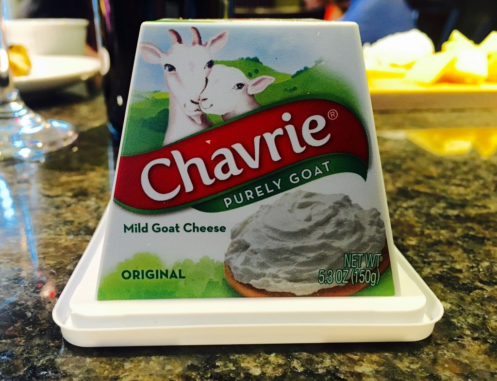The Chavrie Mild Goat Cheese.
