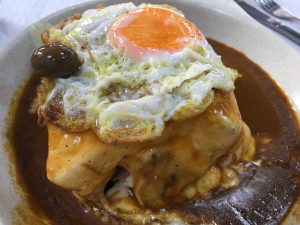 Francesinha, Absolutely Covered in Edam Cheese.