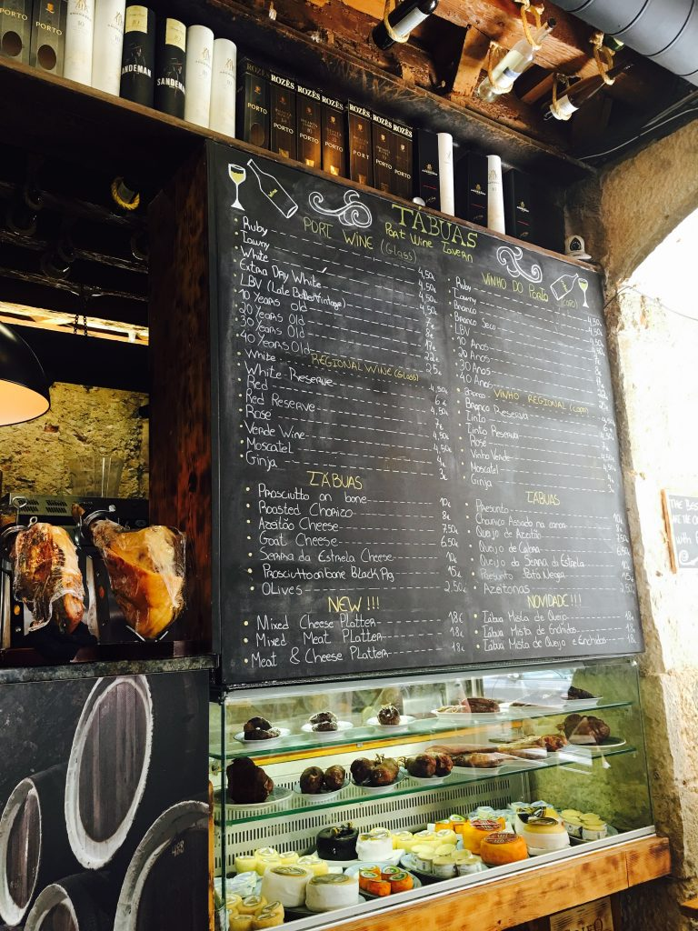 The Cheese Counter and Menu.