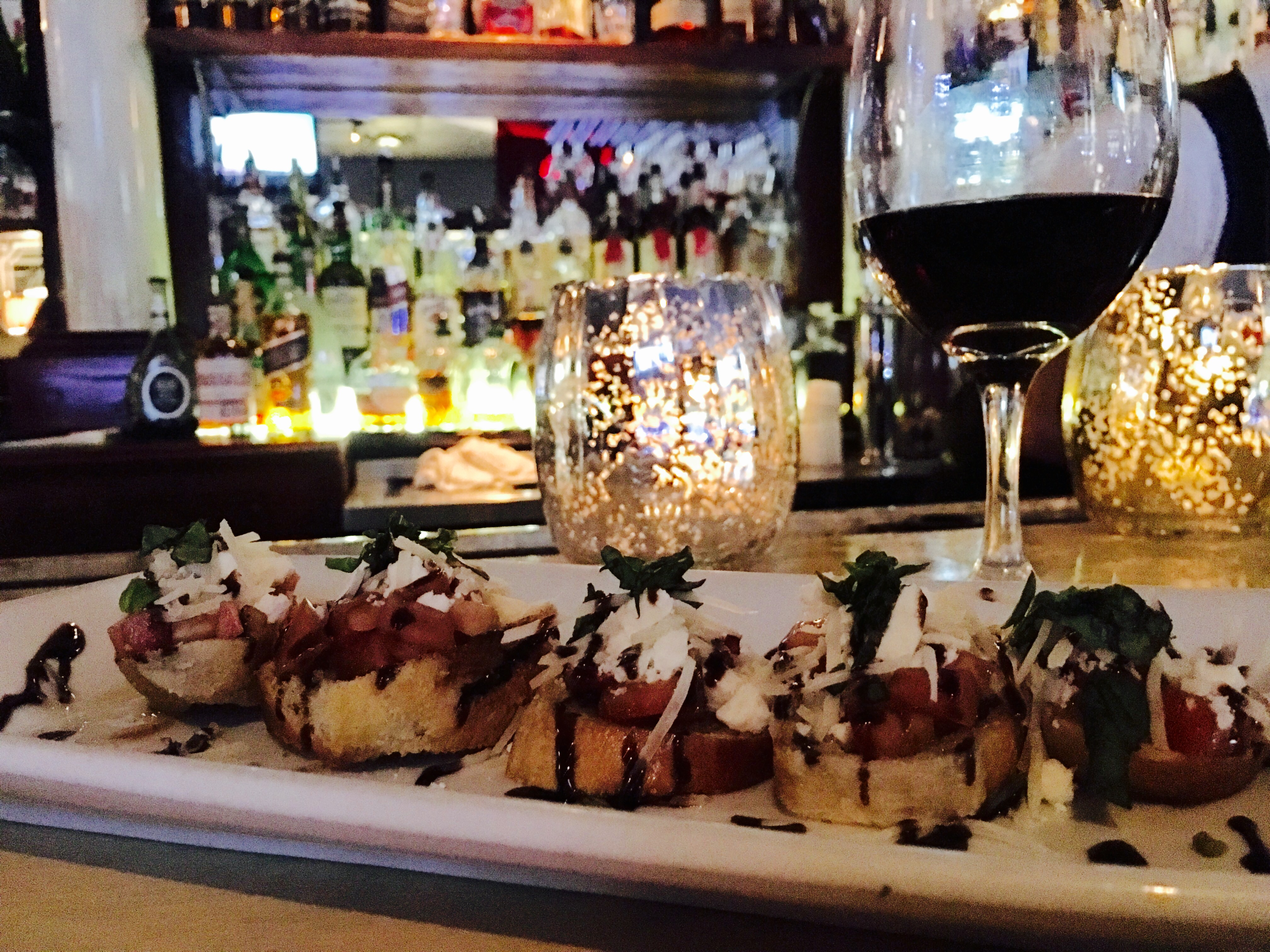 Bruschetta - Atop the Whimsical Bar of Oliviana's