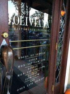 Front Door of Oliviana's